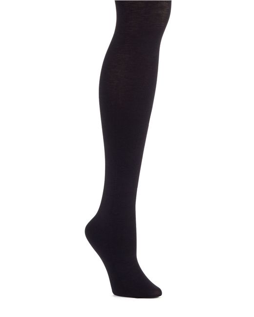 Hue | Blue Thermo Luxe Opaque Tights | Lyst