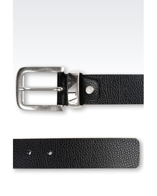 Armani Jeans | Black Textile Belt for Men | Lyst