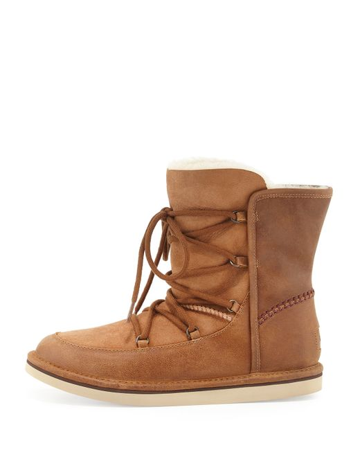 Ugg Lodge Suede Boots With Lace Up Front In Brown Save