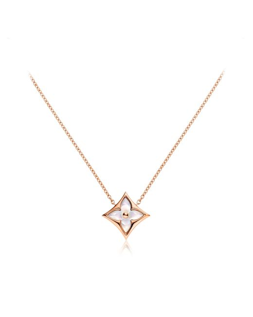 Louis Vuitton | Color Blossom Star Pendant, Pink Gold And White Mother-of-pearl | Lyst
