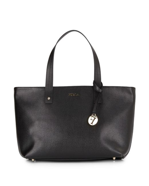 Furla | Black Saffiano Leather Tote | Lyst