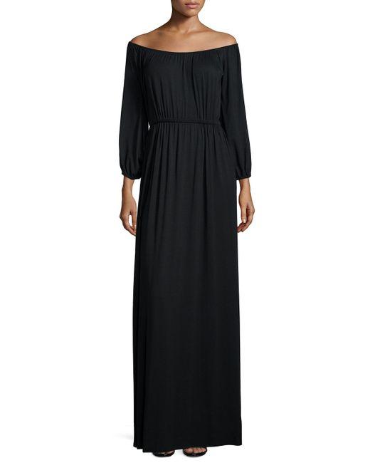 Rachel Pally | Black Freya Off-the-shoulder Maxi Dress | Lyst