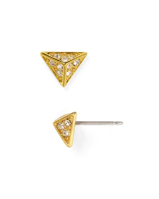 House of Harlow 1960 | Metallic Pave Triangle Stud Earrings | Lyst