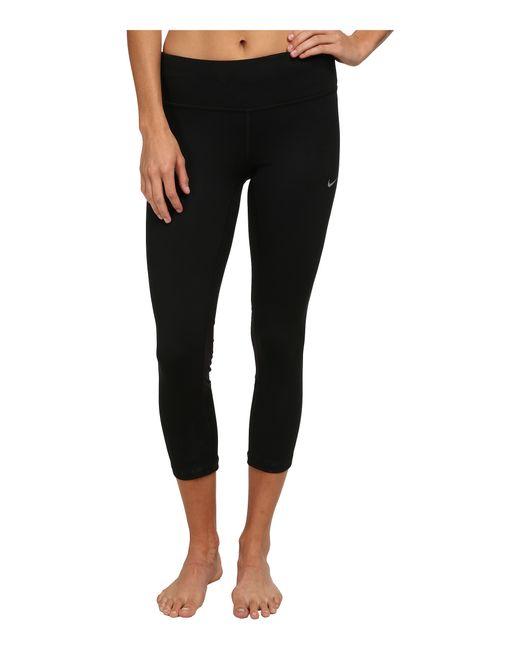 Nike | Black Dri-fit™ Epic Run Crop | Lyst
