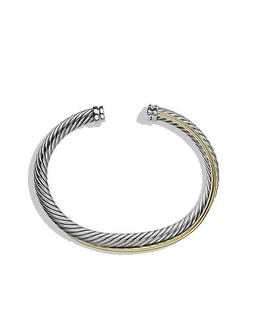 David Yurman | Metallic Crossover Cuff Bracelet With Gold | Lyst