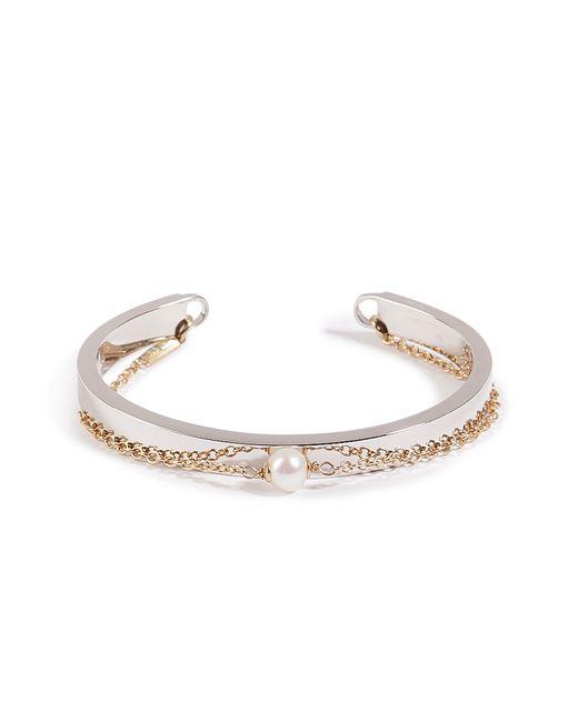Delfina Delettrez   Metallic Silver/gold Two In One Bracelet   Lyst