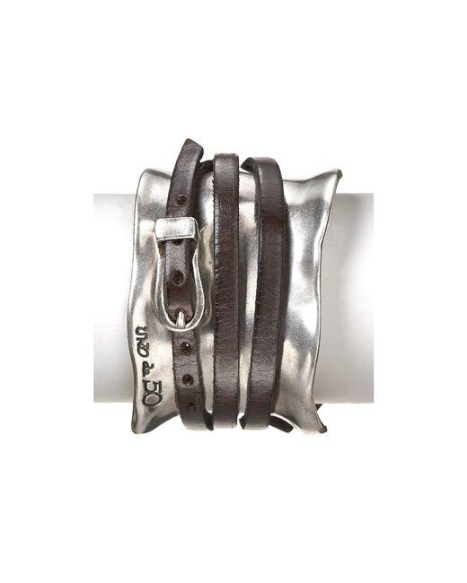 Uno De 50 | Metallic Ibiza Wrap Cuff | Lyst