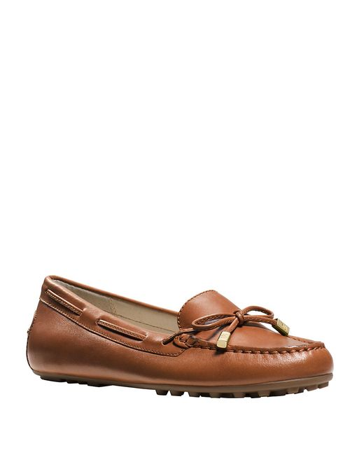 MICHAEL Michael Kors | Brown Daisy Leather Moccasins | Lyst