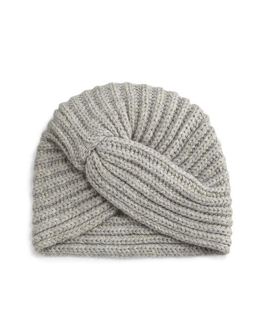 Rosie Sugden | Gray Cashmere Turban-style Beanie Hat | Lyst
