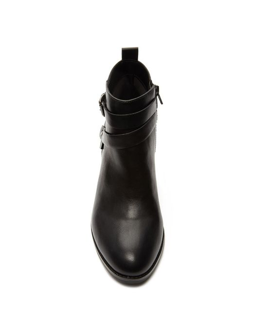 Forever 21 | Black Buckled Faux Leather Booties | Lyst