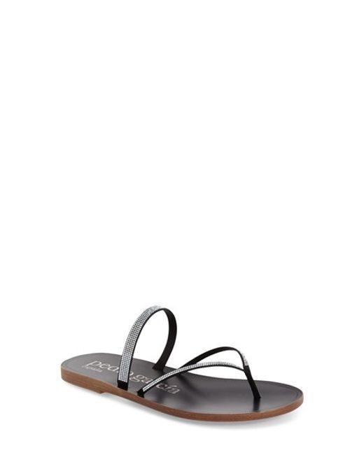 Pedro Garcia | Metallic Ilsa Crystal-Embellished Sandals | Lyst