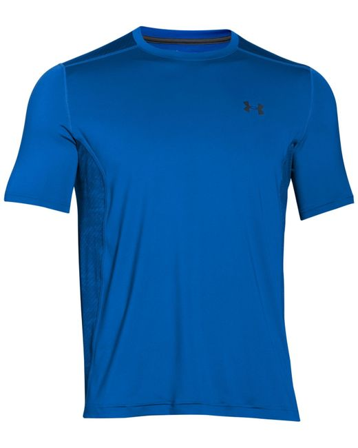 Under armour Men's Heatgear Printed Back Raid T-shirt in Blue for Men ...