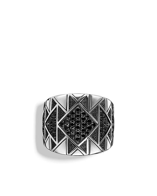 David Yurman | Metallic Frontier Ring With Black Diamonds for Men | Lyst