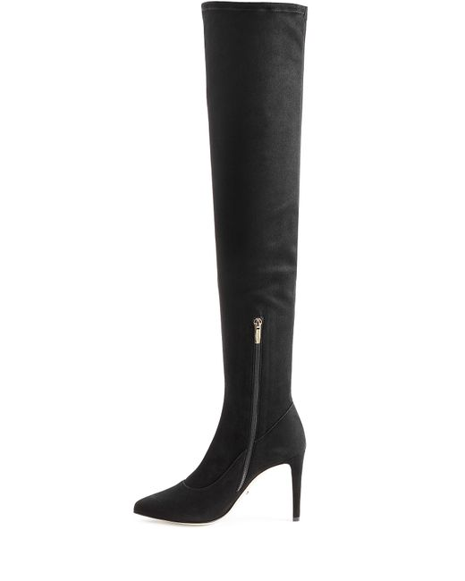 sergio suede the knee boots black in gray