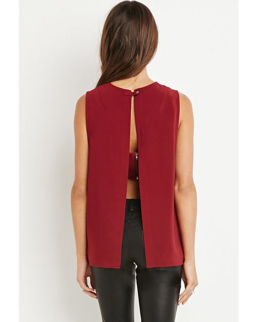 Forever 21   Purple Layered Tulip-back Top   Lyst