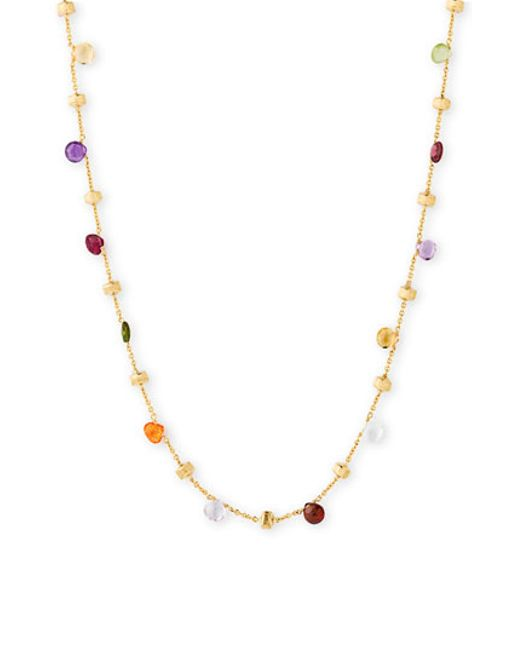 Marco Bicego | Yellow 'paradise' Single Strand Semiprecious Necklace | Lyst