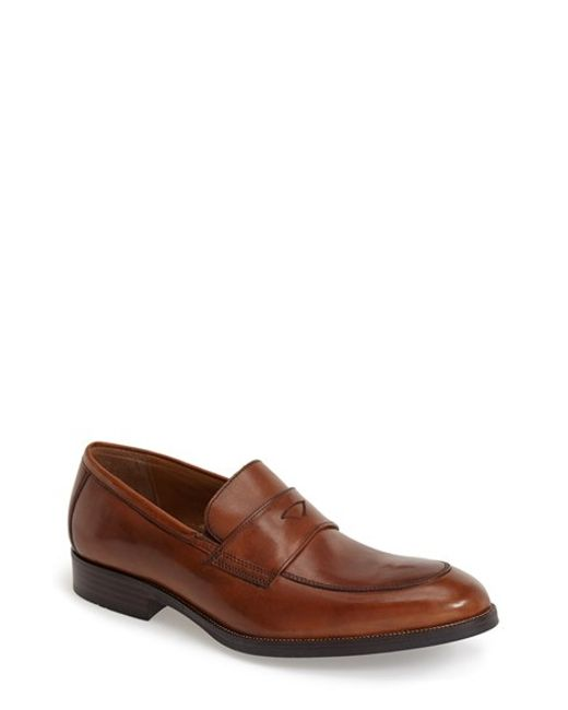 Johnston & Murphy | Brown 'beckwith' Penny Loafer for Men | Lyst