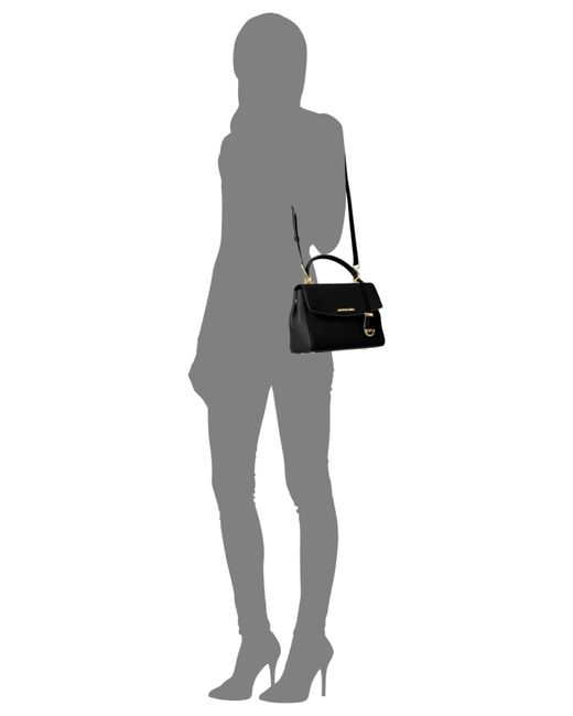 Michael Kors | Black Michael Ava Small Top Handle Satchel | Lyst