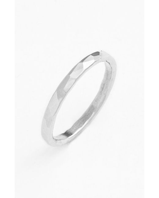 Ija | Metallic Hammered Ring | Lyst