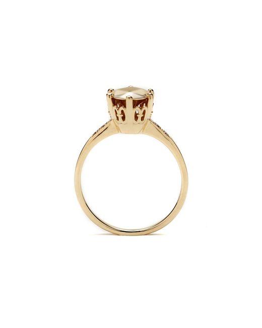 Anna Sheffield | Metallic Hazeline Solitaire Ring | Lyst