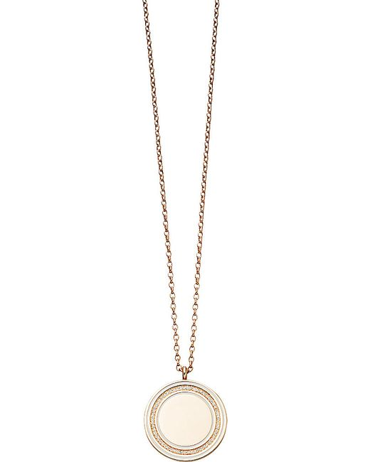 Astley Clarke | Pink Giant Cosmos 18ct Rose-gold And Diamond Moonlight Locket | Lyst