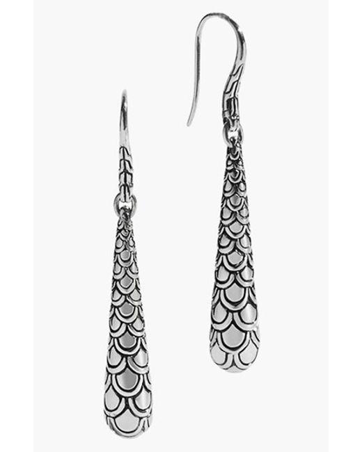 John Hardy | Metallic 'naga' Scale Drop Earrings | Lyst