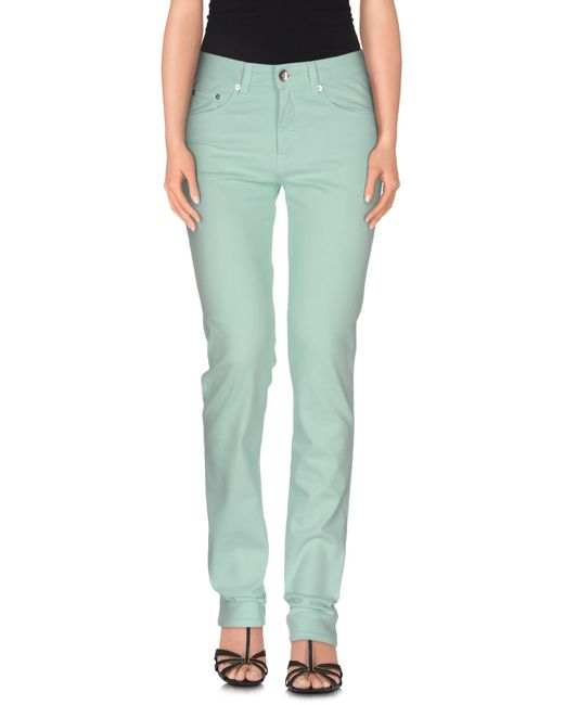 Love Moschino | Green Denim Pants | Lyst