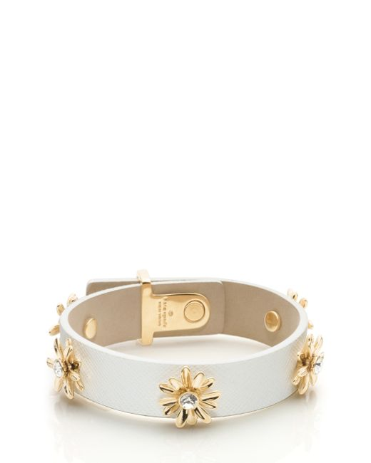 Kate Spade | White Live Colorfully Idiom Bangle | Lyst