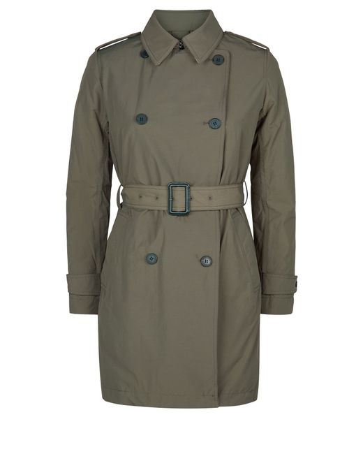 Aquascutum | Green Murray Double Breasted Wadded Trench | Lyst