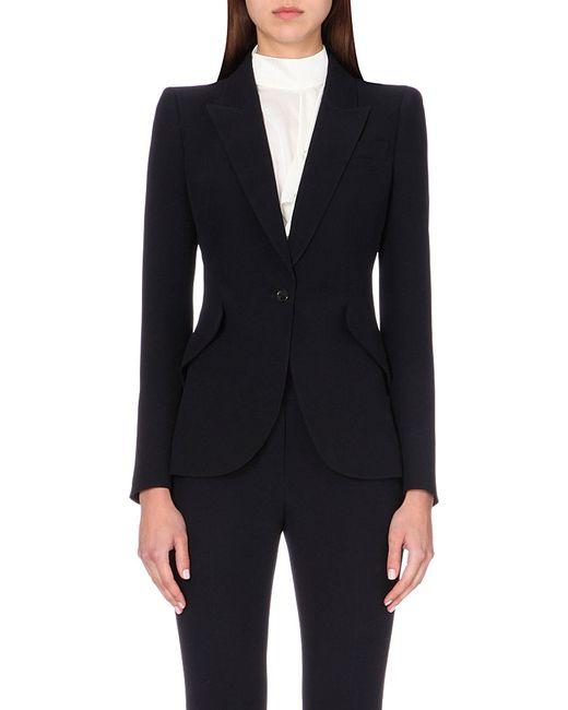 Alexander McQueen   Black Slim-fit Crepe Jacket   Lyst
