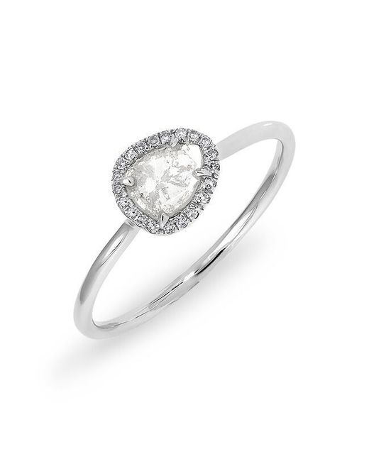 Anne Sisteron | Metallic 14kt White Gold Diamond Slice Solace Ring | Lyst