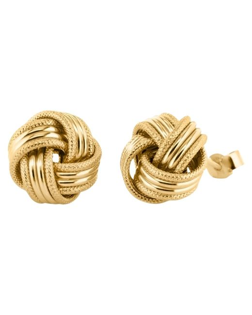 Ib&b | Metallic 9ct Gold Knot Earrings | Lyst