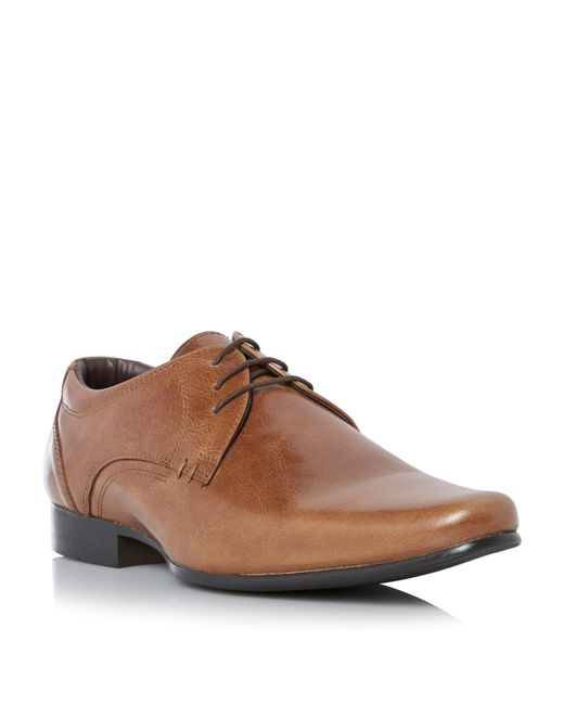 Howick | Brown Receipt Leather Lace Up Derby Shoes for Men | Lyst