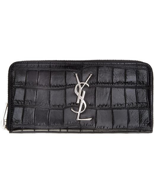 yves saint laurent large kate calfskin leather wallet on a chain