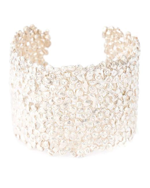 Natasha Collis   White Large Cobbled Cuff   Lyst