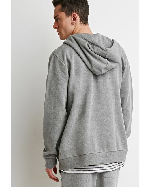 Forever 21 | Gray Zip-up Hoodie for Men | Lyst