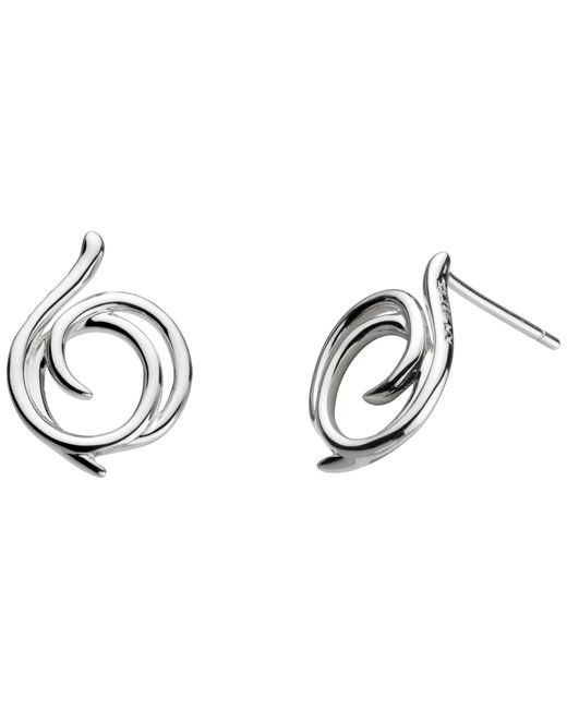 Kit Heath | Metallic Sterling Silver Large Helix Wrap Stud Earrings | Lyst