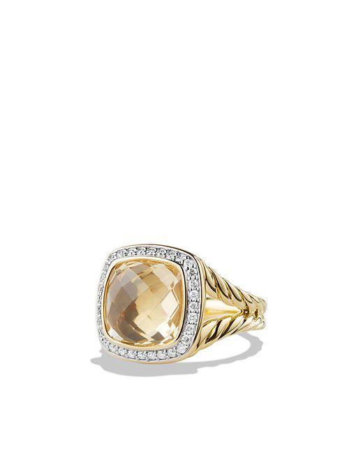 David Yurman | Metallic Ring With Champagne Citrine And Diamonds In 18k Gold | Lyst