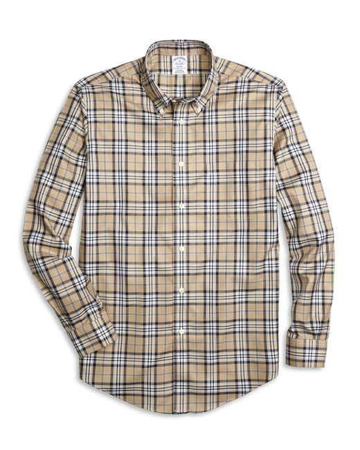 Brooks Brothers | Natural Non-iron Milano Fit Blanket Plaid Sport Shirt for Men | Lyst