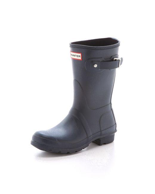 Hunter Original Short Boots in Blue   Lyst