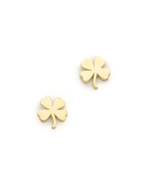 Jennifer Meyer | Metallic Mini Clover Stud Earrings | Lyst
