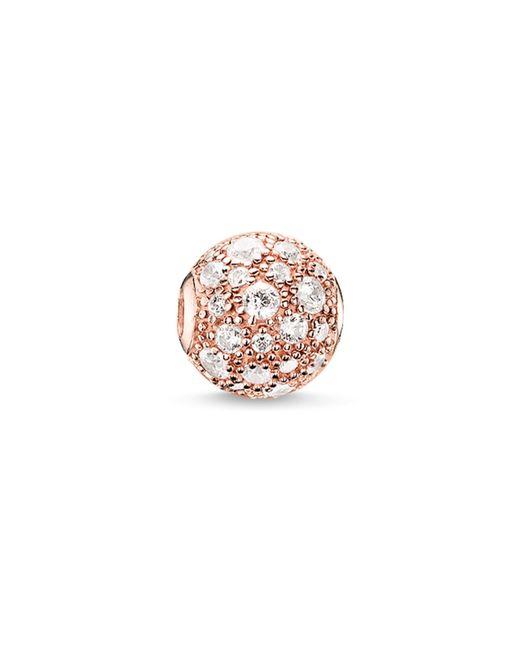 Thomas Sabo | White Karma Beads Crushed Pave Rose Bead | Lyst