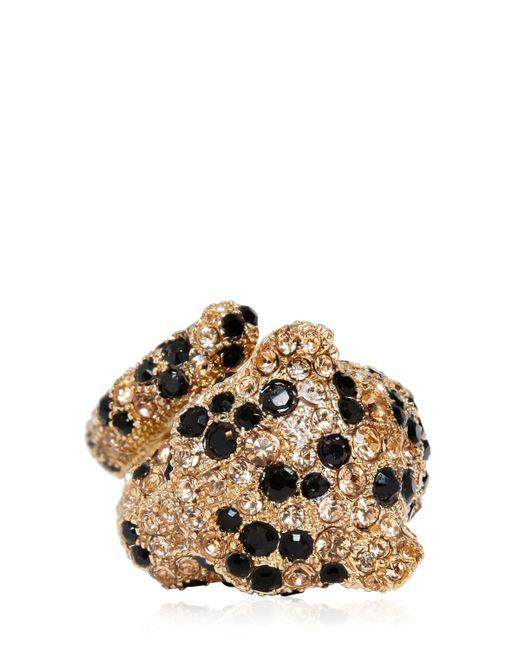 Roberto Cavalli   Black Embellished Panther Ring - For Women   Lyst