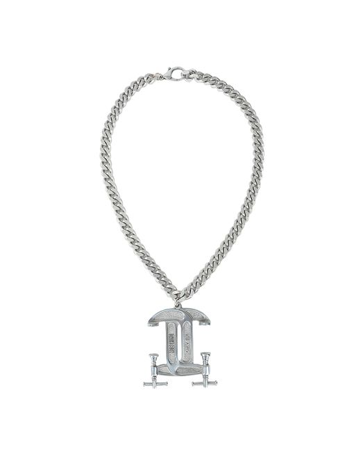 Moschino | Metallic Interlocking C-clamp Necklace | Lyst