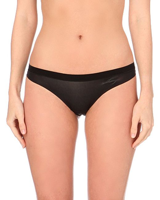 DKNY | Black Fusion Jersey Thong | Lyst