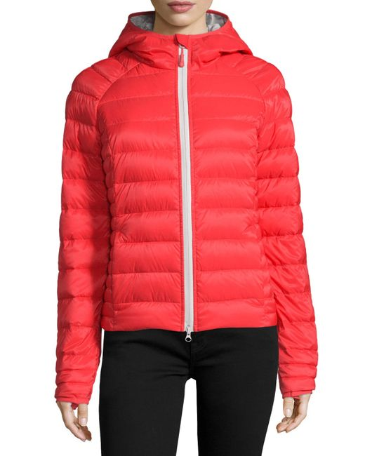 Canada Goose Brookvale Quilted Hoodie Puffer Jacket In Red