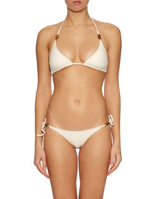 Heidi Klein | Natural Tahiti Triangle Bikini Top | Lyst