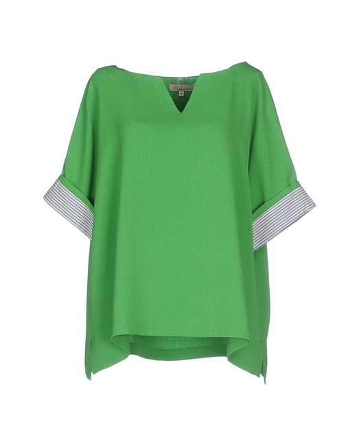 Essentiel   Green Blouse   Lyst