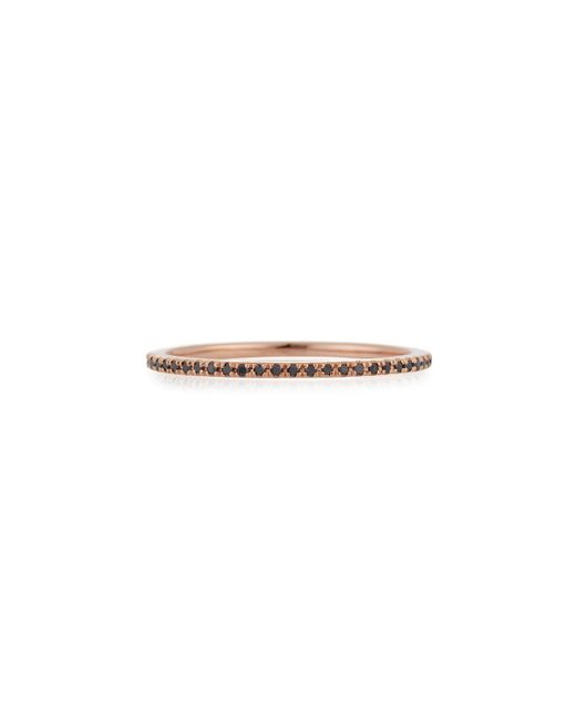 EF Collection | Pink Black Diamond Eternity Stack Ring | Lyst