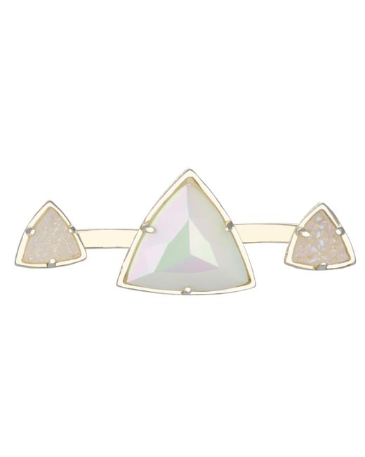 Kendra Scott | White Rachel Double Ring, Iridescent | Lyst